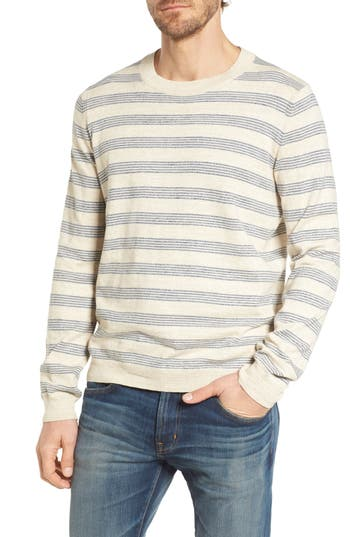Grayers Stripe Cotton Sweater, Ivory