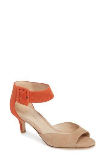 Women's Pelle Moda 'Berlin' Ankle Strap Sandal, Size 8.5 M - Beige