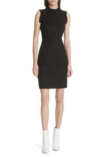 Rebecca Taylor Spring Ruffle Dress, Black
