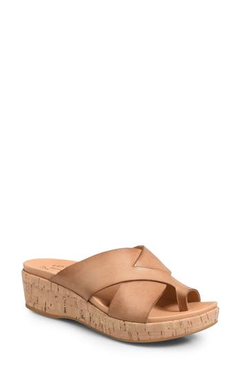 Kork-Ease Baja Wedge Slide Sandal, Brown