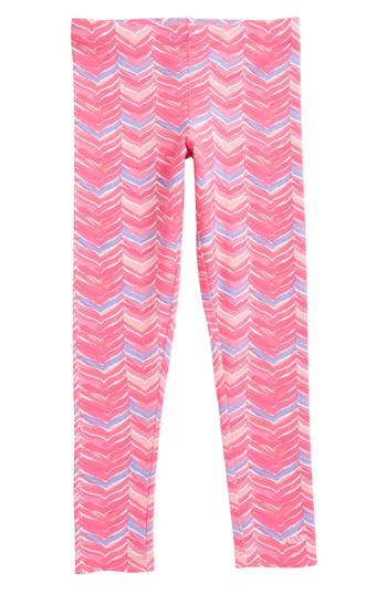 Girl's Vineyard Vines Whale Tail Knit Leggings, Size XS (5-6) - Pink