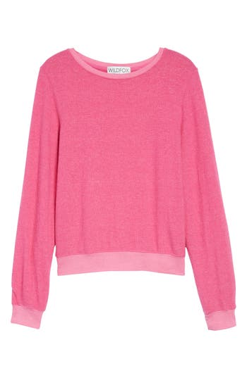 Women's Wildfox 'Baggy Beach Jumper' Pullover, Size XX-Small - Pink