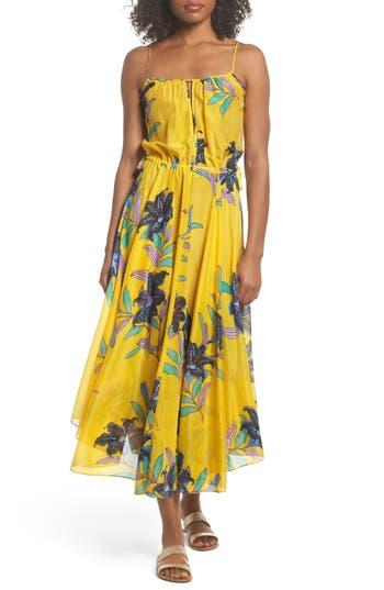 Diane Von Furstenberg Maxi Dress Cover-Up, Yellow