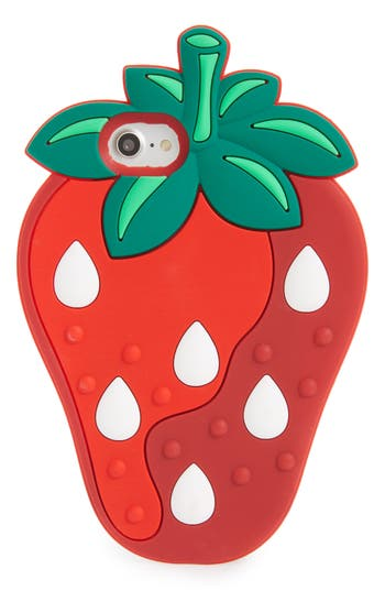 Bp. Oversize Soft Strawberry Iphone 7/8 Case - Red