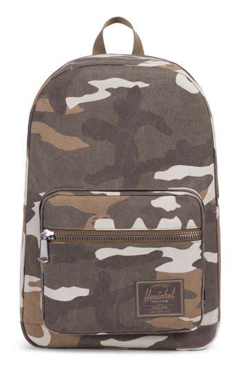 Herschel Supply Co. Pop Quiz Print Canvas Backpack - Brown