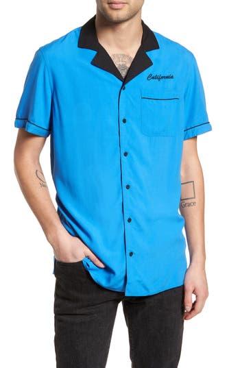 Men's The Rail Bowling Shirt, Size Small - Blue