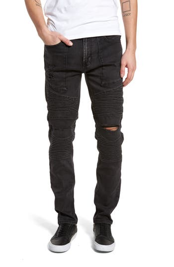Men's Lira Clothing Strabbler Ripped Jeans, Size 28 - Black