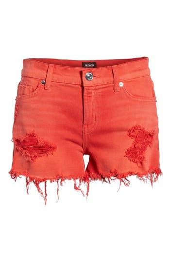 Women's Hudson Jeans Kenzie Cutoff Jean Shorts, Size 23 - Red