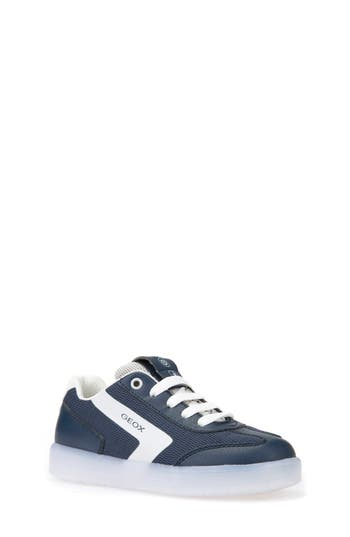 Boys Geox Kommodor LightUp Low Top Sneaker Size 3.5US  35EU  Blue