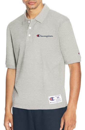 Champion Reverse Weave Polo Shirt, Grey