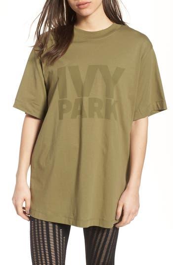 Ivy Park Programme Oversize Logo Tee, Green