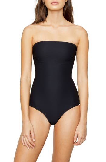 Onia Estelle Rib Convertible One-Piece Swimsuit, Black
