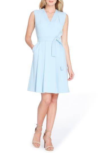 Women's Tahari Faux Wrap Dress, Size 2 - Blue