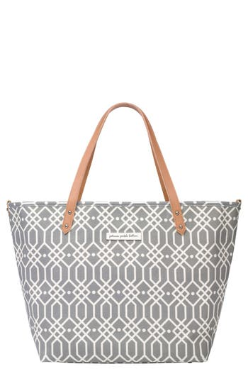 Infant Petunia Pickle Bottom 'Downtown' Canvas Diaper Tote - Grey