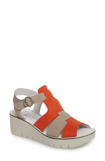 Women's Fly London Yuni Wedge Sandal, Size 7.5-8US / 38EU - Orange