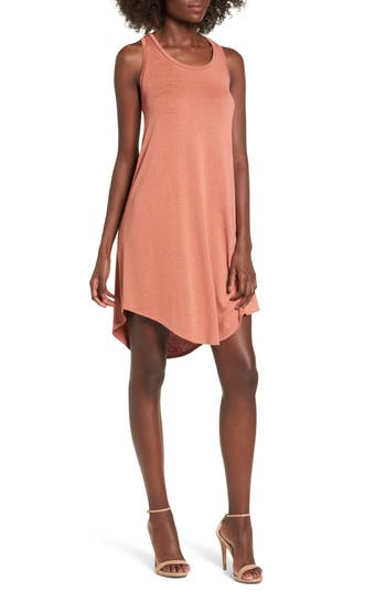 Leith Tank Shift Dress, Coral