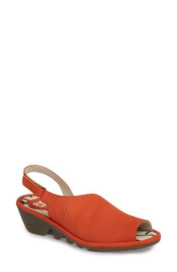 Women's Fly London Palp Wedge Sandal, Size 8-8.5US / 39EU - Orange