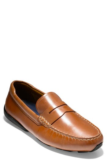COLE HAAN Branson Penny Driver, British Tan Leather