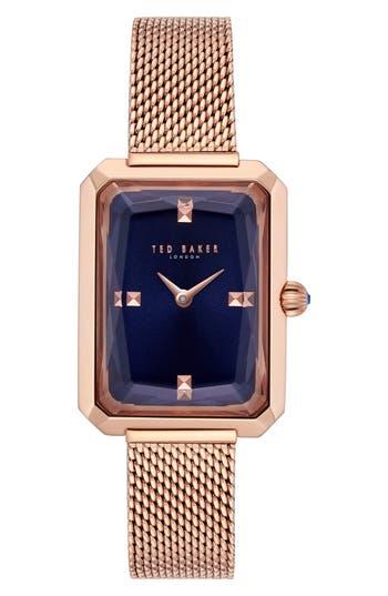 Ted Baker London Cara Mesh Strap Watch, 22Mm
