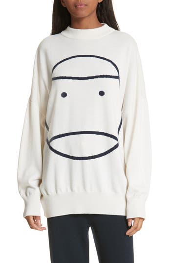 Tory Sport Little Grumps Performance Merino Wool Blend Sweater, White
