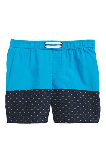 Boys Armani Junior Logo Swim Trunks Size 4Y  Blue