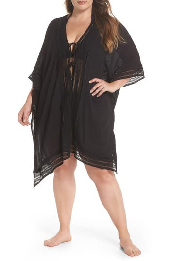 Plus Size Muche Et Muchette Serendipity Cover-Up Tunic, Size One Size - Black