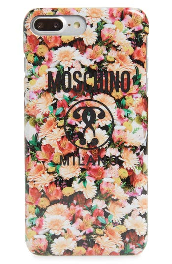 Moschino Floral Print Iphone 6/7/8 Plus Case - Pink