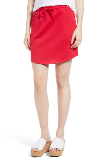 Gibson X Living In Yellow Cassidy French Terry Skirt, Red