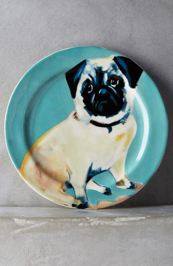 Anthropologie DogADay Stoneware Dessert Plate