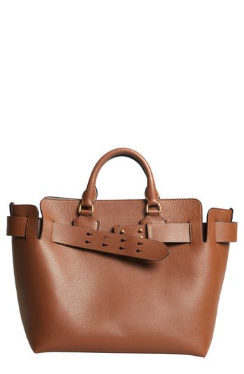 Burberry Medium Belt Bag Leather Tote - Brown