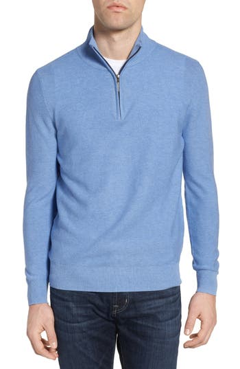 Jeremy Argyle Quarter Zip Sweater, Blue
