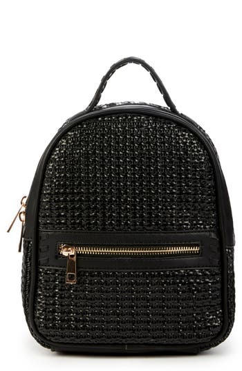 Sole Society Nikole Faux Leather Backpack - Black