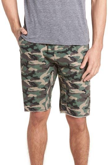 The Rail Camo Print Cutoff Twill Shorts