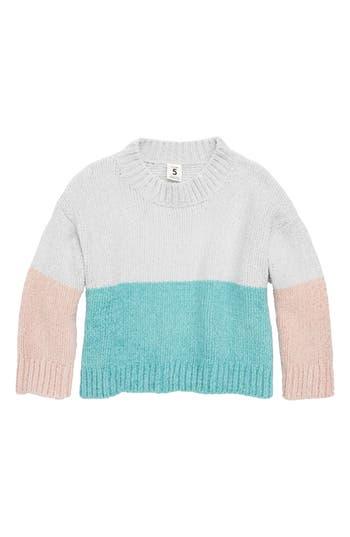 Girls Stem Colorblock Pullover Sweater
