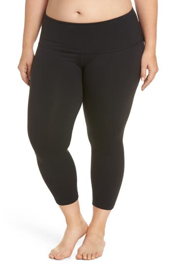 Plus Size Beyond Yoga High Waist Capri Leggings, Black