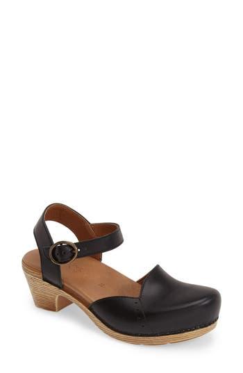 Women's Dansko 'Maisie' Ankle Strap Leather Pump