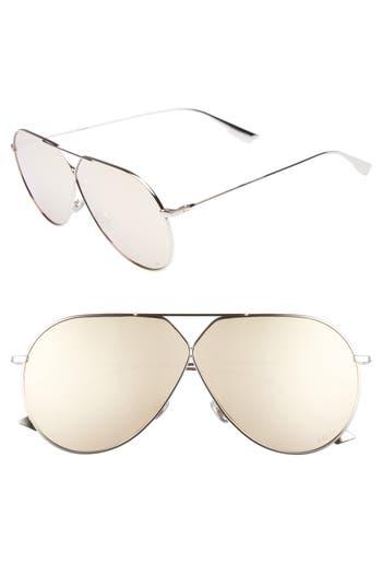 Christian Dior 65Mm Aviator Sunglasses - Palladium