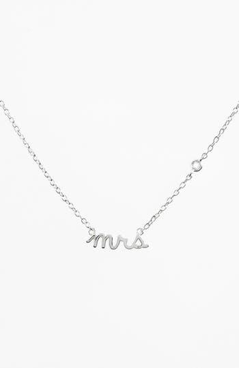 Women's Shy By Se 'Mrs' Necklace