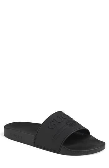 Gucci Pursuit Logo Slide Sandal