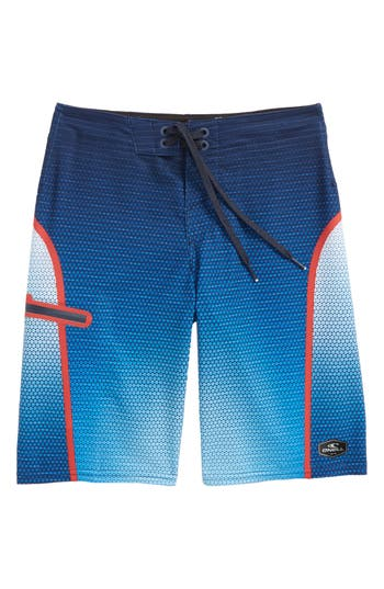 Boys ONeill Hyperfreak Prizma Board Shorts Size 29  Blue