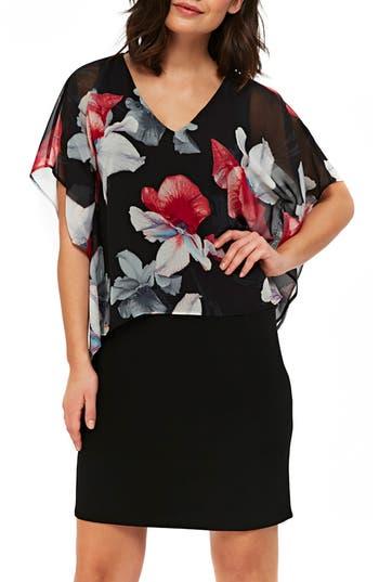 Wallis Orchid Overlay Dress, US / 10 UK - Black