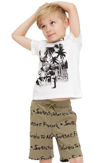 Boys Art  Eden Levi Print Knit Shorts Size 10  Green