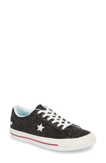 Women's Converse X Chiara Ferragni One Star Ox Sneaker, Size 5.5 M - Black