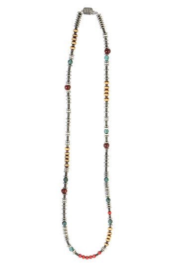 KING BABY AMERICAN VOICES CERAMIC & GLASS BEAD NECKLACE