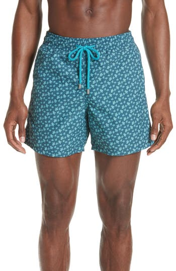 Vilebrequin Micro Ronde Turtle Swim Trunks, Blue
