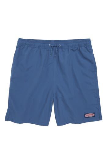 Boys Vineyard Vines Chappy Patchwork Swim Trunks Size 5  Blue