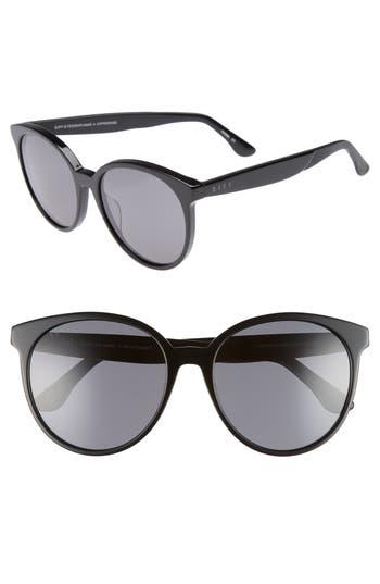 DIFF Cosmo 56mm Polarized Round Sunglasses
