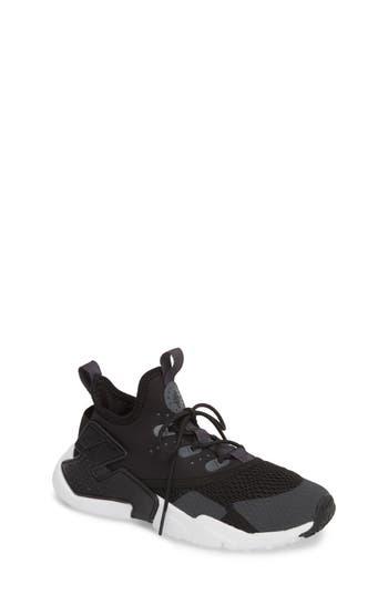 Boys Nike Huarache Run Drift Sneaker Size 3.5 M  Black