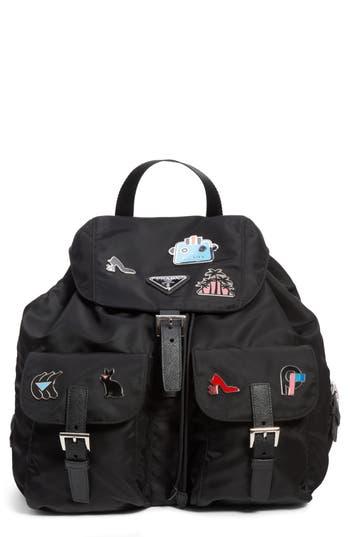 Prada Embellished Nylon Backpack
