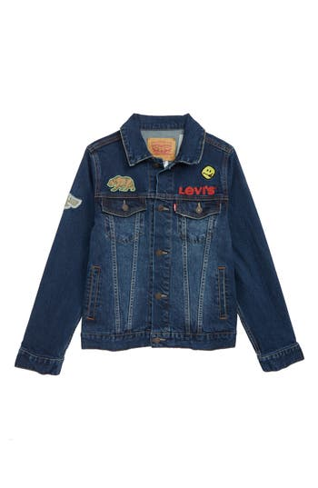 Boys Levis Trucker Denim Jacket Size S  78  Blue